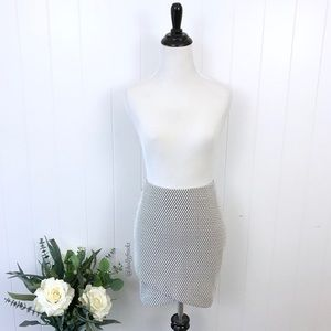 NWT ∙ H&M X-Small Textured Wrap Mini Skirt